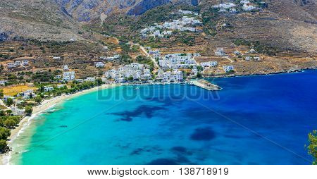beautiful beaches of Greece - Aegialis bay in Amorgos island, Cyclades