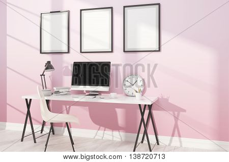 Comfortable Study With Posters