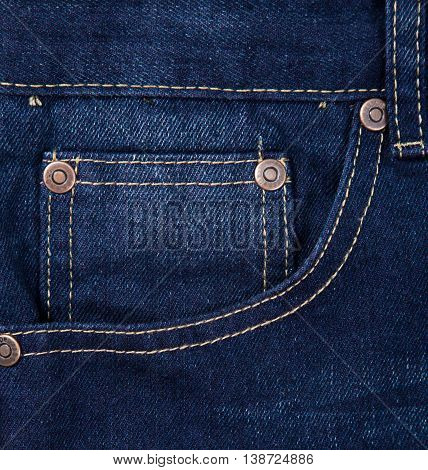 a Blue jeans fabric with pocket background