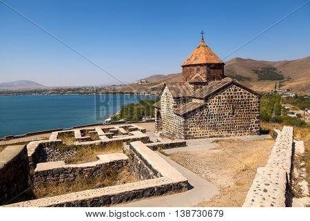 The Sevan Temple Complex On The Peninsula Of The Lake Sevan, Armenia.