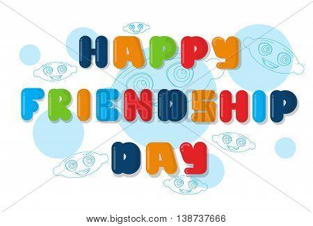 Happy Friendship Day Banner Flat Vector Illustration