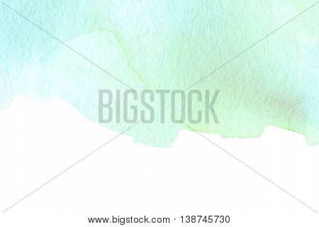 Abstract watercolor splash. Teal Blue Watercolour Hand Painted ink spot textured background. High resolution