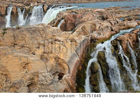 Dhuandhar waterfalls, Narmada river near Jabalpur in the Indian state of Madhya Pradesh