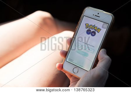 Kuala Lumpur, Malaysia, July 16, 2016: An Ios User Prepares To Register Pokemon Go, A Free-to-play A