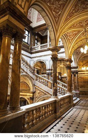 GLASGOW,UK - 27 Juni 2016: Interiors of City Chambers Buildings in Glasgow, Scotland, Uk.