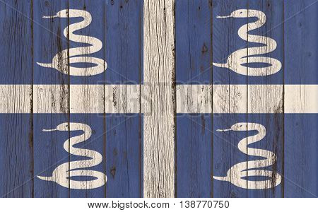 Martinique Flag on wood background Martinique Flag on wood background