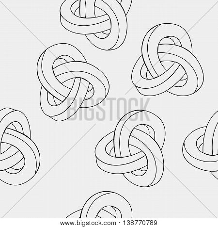 Pattern geometric seamless simple monochrome minimalistic pattern of impossible shapes.
