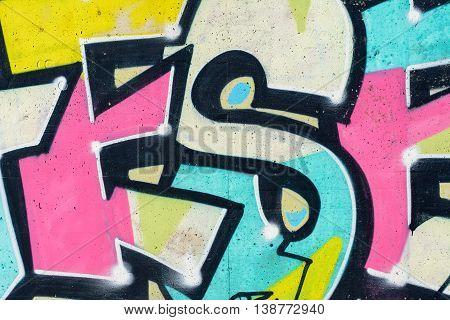 Close up Modern cool and stylish  Graffiti