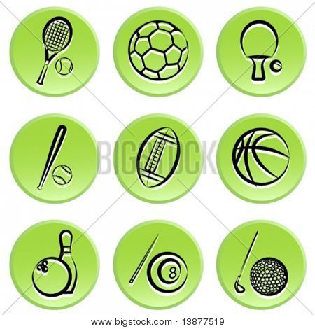 sport items icon set