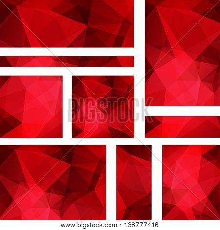 Set Of Banner Templates With Abstract Background. Modern Vector Banners With Polygonal Background. R
