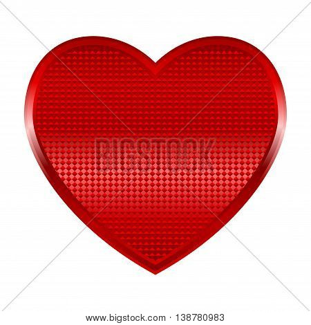 Vector illustration of a shinning heart isolated on white