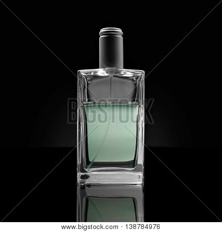 Crystal Glass Perfume Bottle Isolated Transparency And Glossy Effects