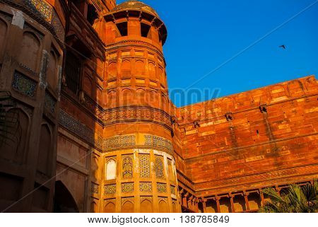 Agra, India. Gate Of Agra Fort.