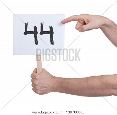 Sign With A Number, 44