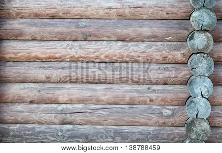 texture natural brown wooden logs stacked together