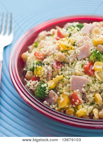 Ham and Vegetable Cous Cous