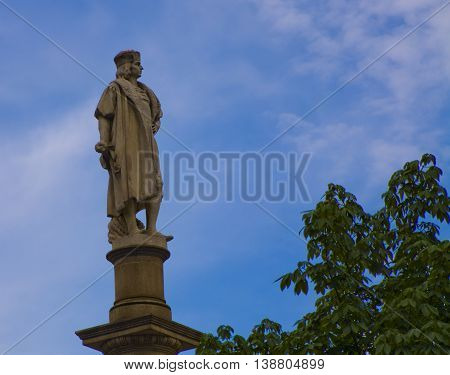Columbus Statue in New York, United States