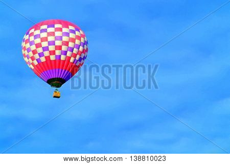 Pretty in Pink Hot Air Balloon in Flight