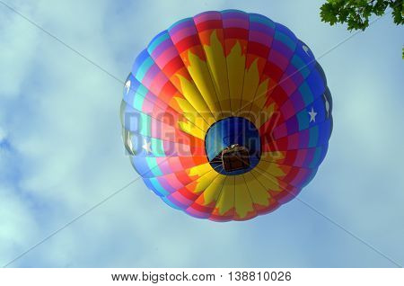 Looking Up, under the hot air balloon