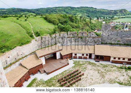 Courtyard Of The Castle Beckov, Slovakia
