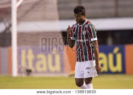 Rio de Janeiro Brazil - April 10 2016: Maranhao player in match between Fluminense and Cruzeiro by the Brazilian championship in the Giulite Coutinho Stadium