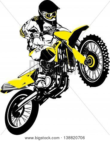 Motocross vector logo. Vector illustration of motorcyclist