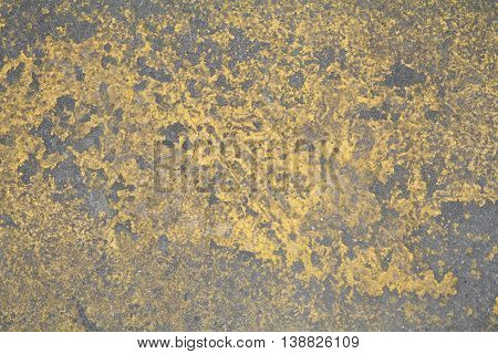 chipped painted yellow concrete floor texture map