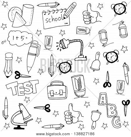 Doodle of collection stock element school illustration