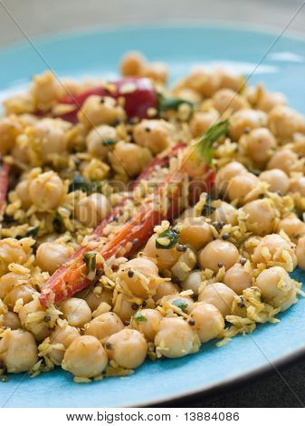 Chick Peas and Coconut with Chilli