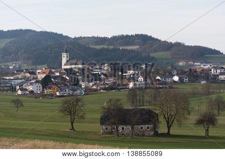 rural market town Putzleinsdorf in Upper Austria