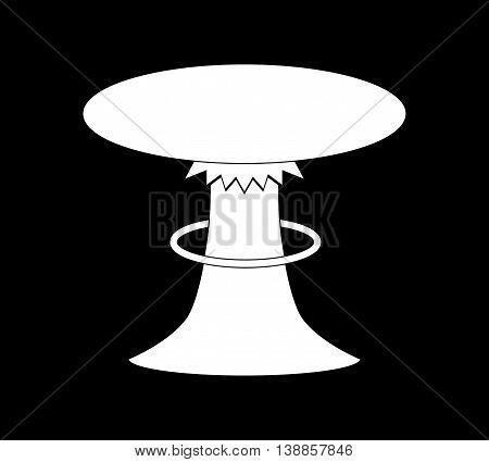 Mushroom Cloud of Nuclear Explosion. Flat vector stock illustration