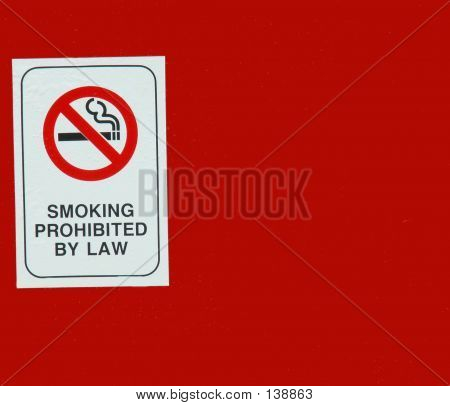 Smoking Prohibited By Law