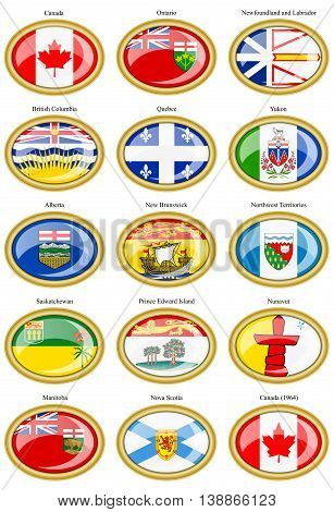 Regions Of Canada Flags