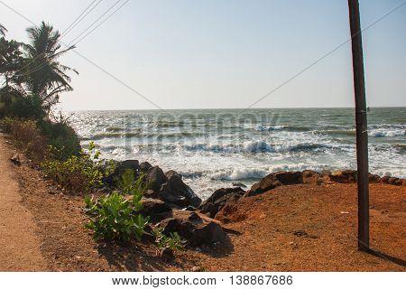 Beautiful Beach In Gokarna. Karnataka, India