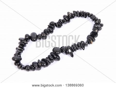 Splintered Tourmaline Chain On White Background