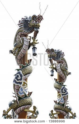 chinese dragon pole
