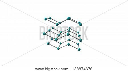 Uranium is a chemical element with symbol U and atomic number 92. It is a silvery-white metal in the actinide series of the periodic table. 3d illustration poster