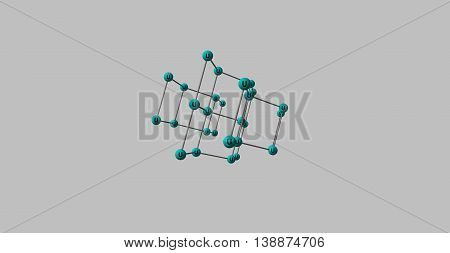 Uranium is a chemical element with symbol U and atomic number 92. It is a silvery-white metal in the actinide series of the periodic table. 3d illustration