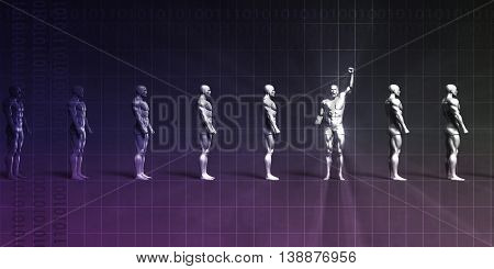 Striving for Success and Achieving Successful Goals 3D Render Illustration
