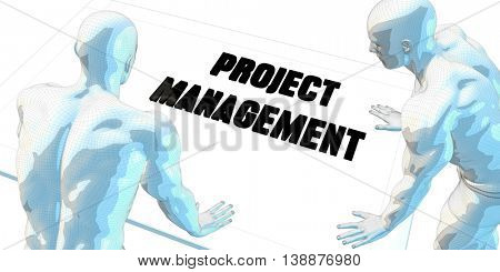 Project Management Discussion and Business Meeting Concept Art 3D Render Illustration