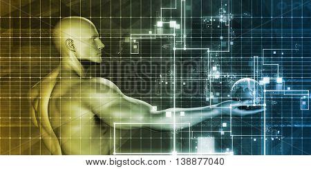 Business Intelligence for Decision Making as Art 3D Illustration Render