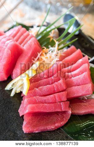 Otoro tuna blie fin sashimi Japanese gourmet cuisine