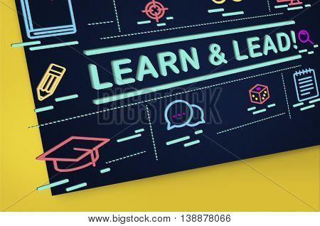 Learn Lead Coach Education Improvement Director Concept