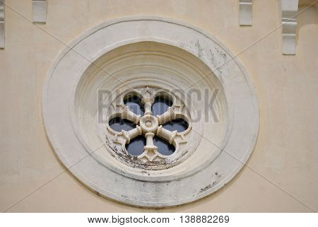Detail of Catholic Church of St. Jerome in Herceg Novi, Montenegro.
