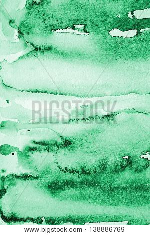 Abstract Watercolor Background With Green Layers