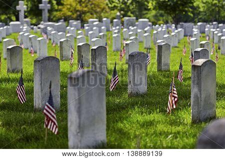 Arlington National Cemetery On Memorial Day