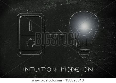 Idea Lightbulb With Switch On & Flare