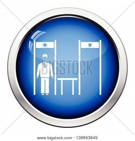 Stadium Metal Detector Frame With Inspecting Fan Icon