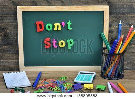 Don't stop word on school board
