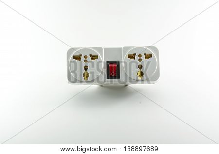 Universal plug on white background for dicut